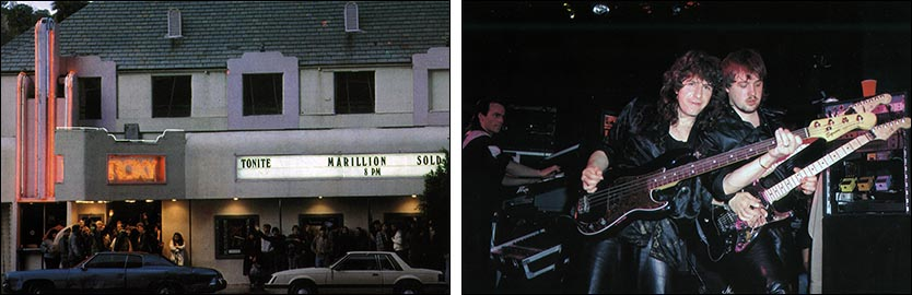 "Marillion: The Roxy, Los Angeles - 15.-16.03.1986 - Photos taken from ""The Web"" - Issue No. 20"