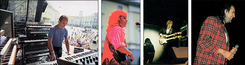 "Marillion: Piazza Grande, Locarno - 05.07.1987 - Photos taken from ""Clutching At Straws - Winter Of 1987-88"" tour programme"