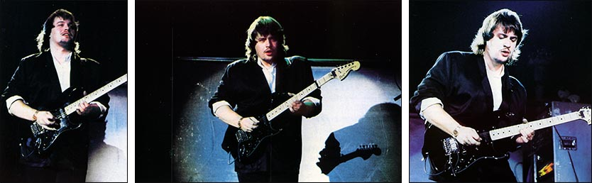 Steve Rothery: Wembley Arena, London - 04.11.1987 - Photos by Stuart James, taken from ''The Web'' - Issue No. 26