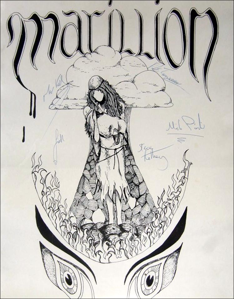 First Concert Poster - 1981 (with 1982-1983 line-up autographs)
