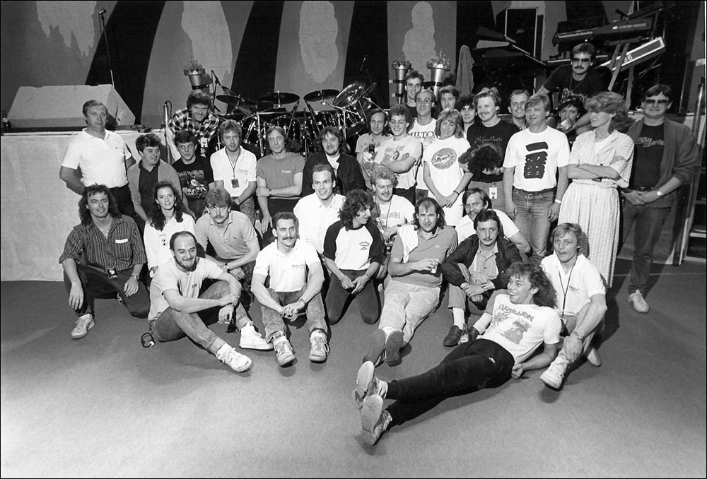 Marillion: Tour Crew in Poland - June 1987 - Photo by Michal Gruszczynski