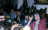 Fish and Pete with italian fan club members: La Tana del Lupo, Milan - 14.05.1987 - Photo by Roberto Cangioli